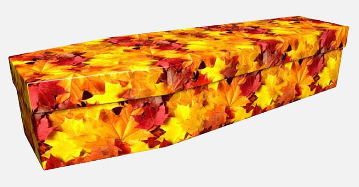 Autumn Leaves Coffin