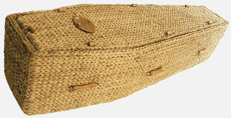 Traditional Water Hyacinth Coffin